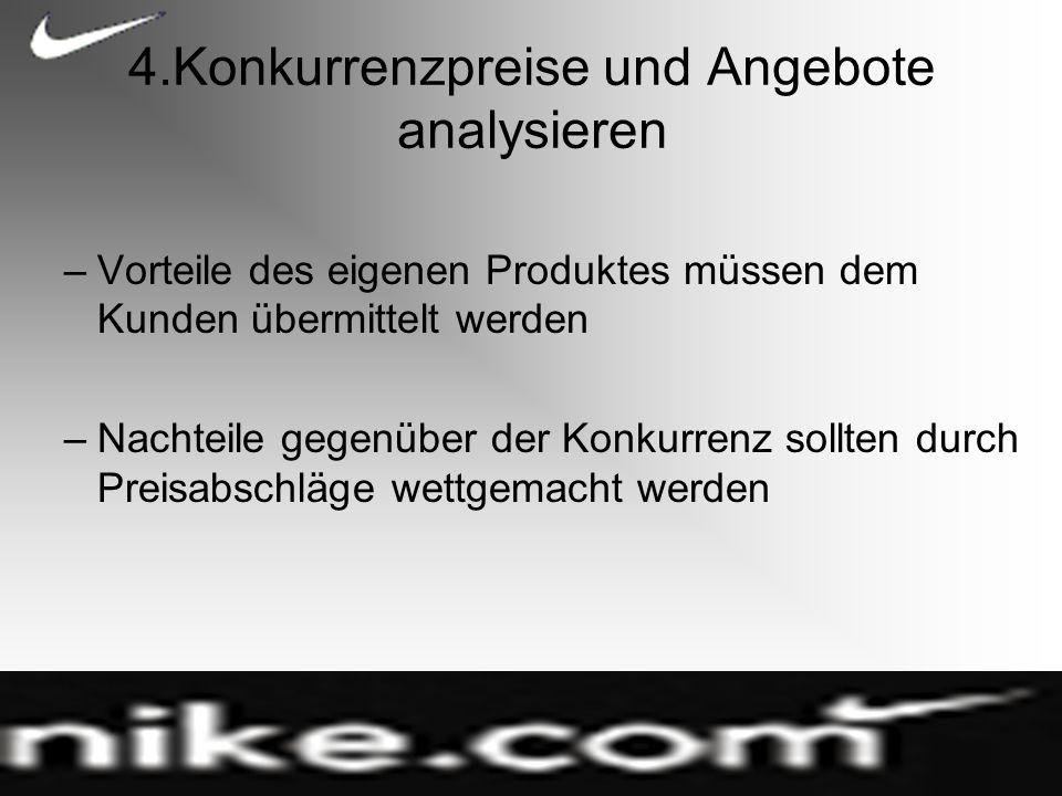 4.Konkurrenzpreise und Angebote analysieren