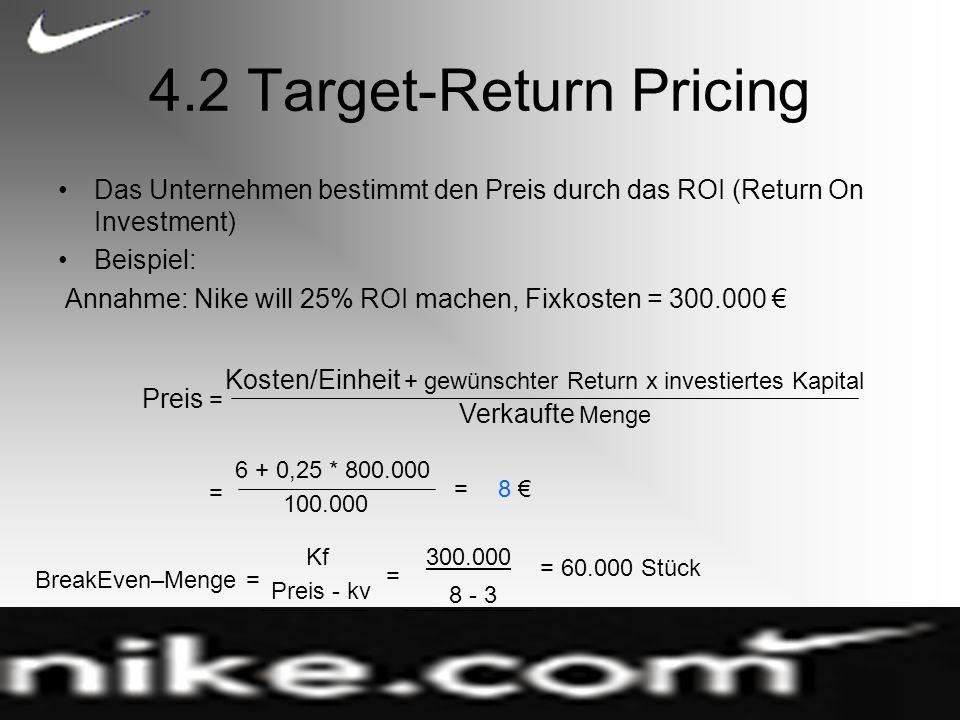 4.2 Target-Return Pricing