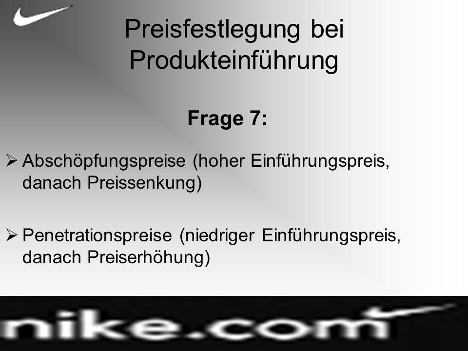 Preisfestlegung bei Produkteinführung