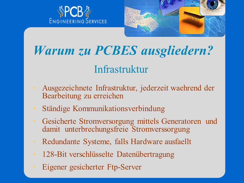 Warum zu PCBES ausgliedern