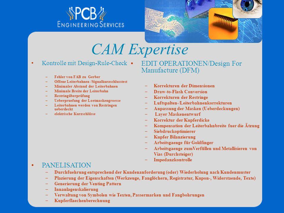 CAM Expertise EDIT OPERATIONEN/Design For Manufacture (DFM)