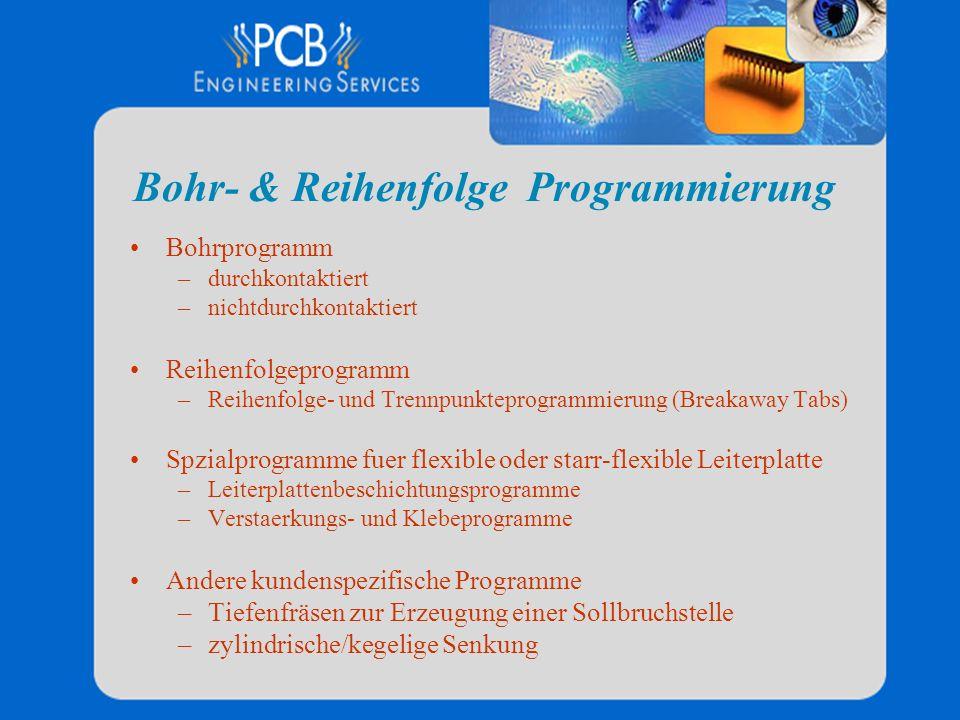 Bohr- & Reihenfolge Programmierung