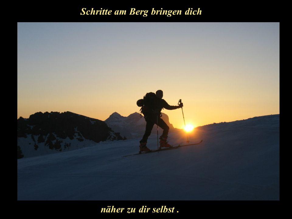 Schritte am Berg bringen dich