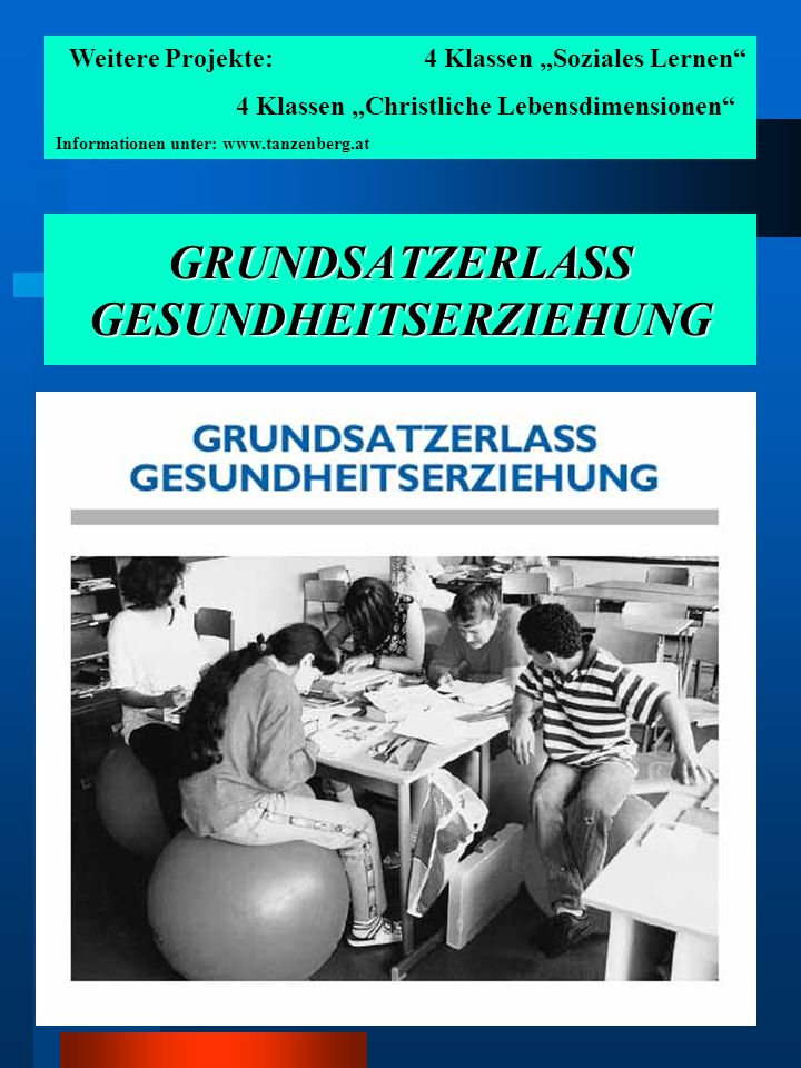 GRUNDSATZERLASS GESUNDHEITSERZIEHUNG