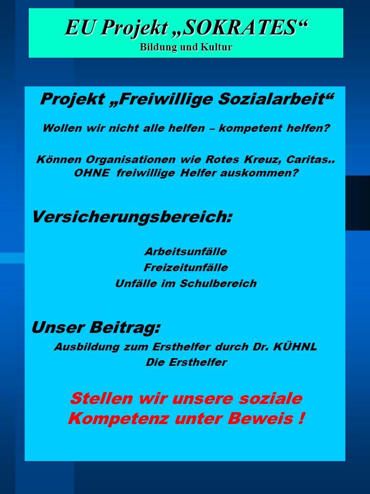 """EU Projekt """"SOKRATES Bildung und Kultur"""