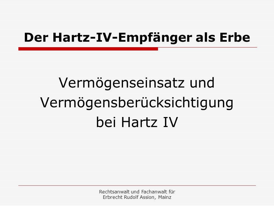 Der Hartz-IV-Empfänger als Erbe