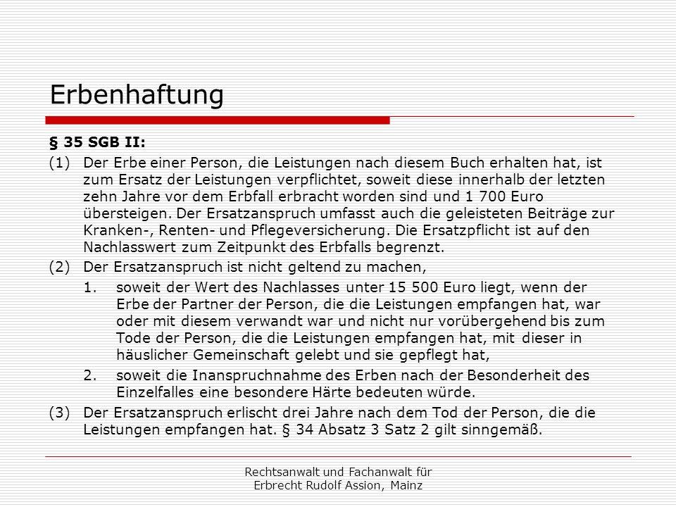 Rechtsanwalt und Fachanwalt für Erbrecht Rudolf Assion, Mainz