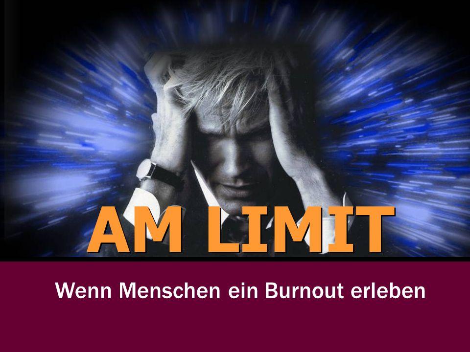 Wenn Menschen ein Burnout erleben