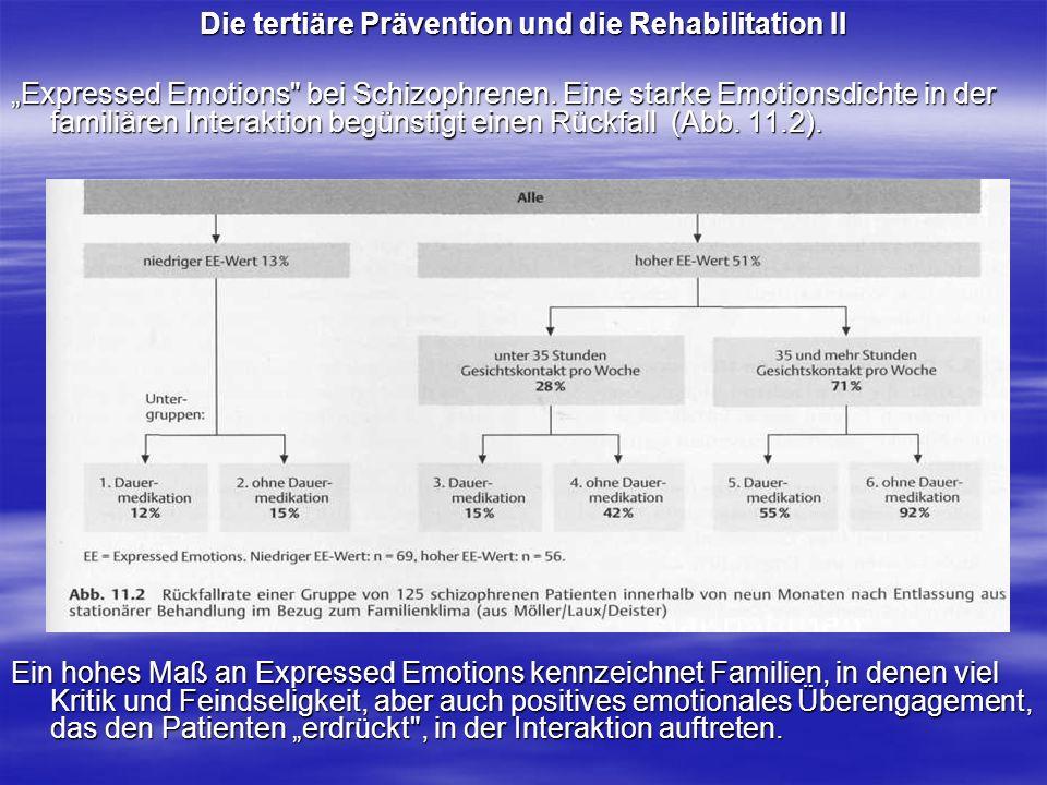 Die tertiäre Prävention und die Rehabilitation II