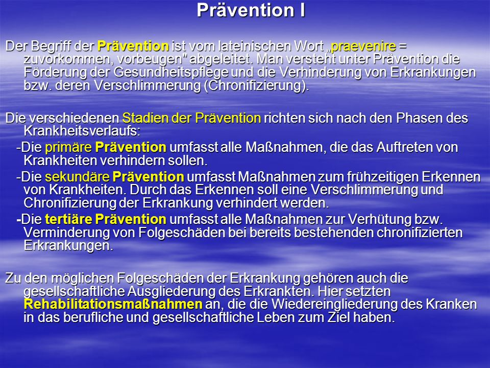 Prävention I