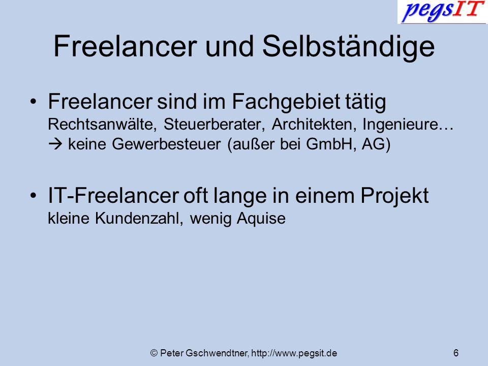 Freelancer und Selbständige