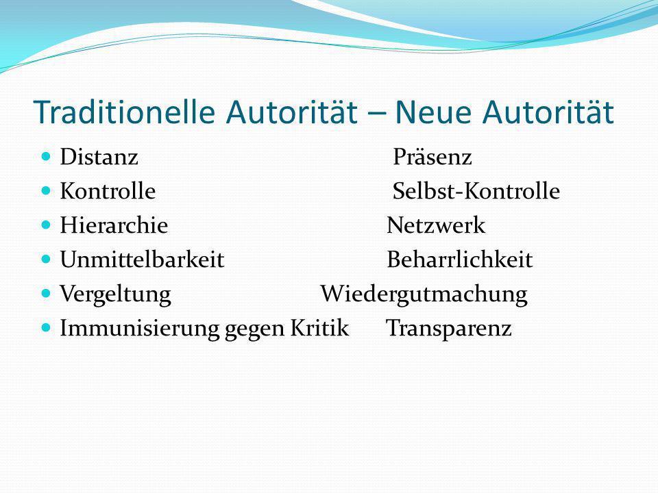 Traditionelle Autorität – Neue Autorität