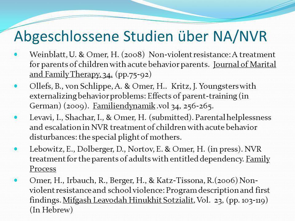 Abgeschlossene Studien über NA/NVR