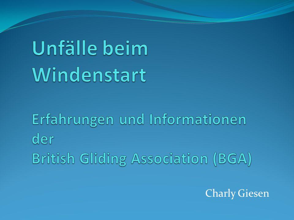 Unfälle beim Windenstart Erfahrungen und Informationen der British Gliding Association (BGA)