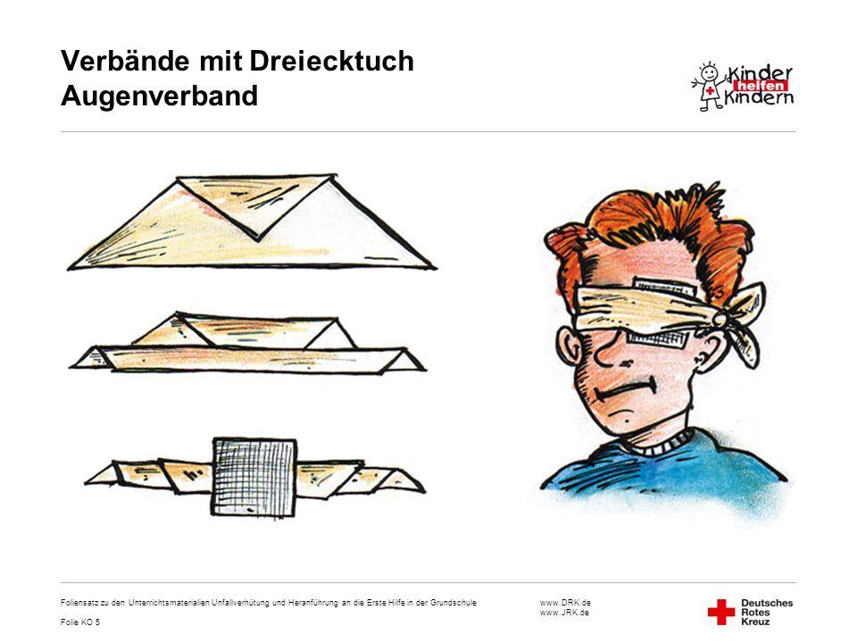 Verbände mit Dreiecktuch Augenverband