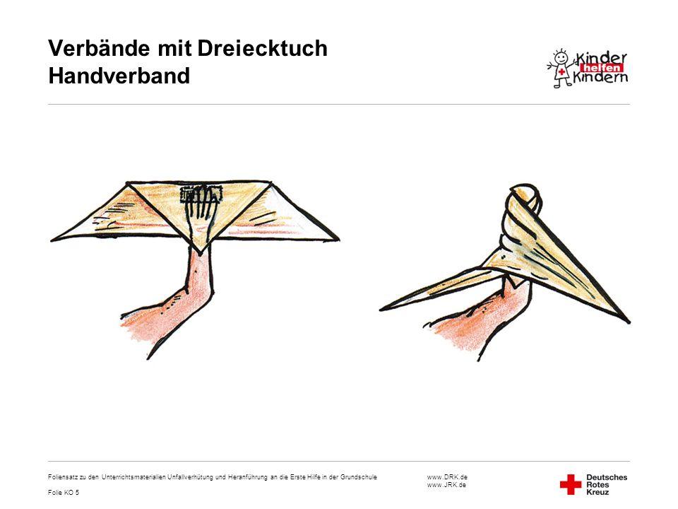 Verbände mit Dreiecktuch Handverband