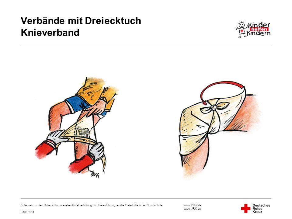 Verbände mit Dreiecktuch Knieverband