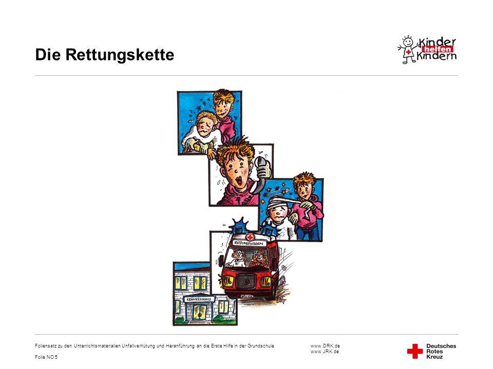 Die Rettungskette Foliensatz zu den Unterrichtsmaterialien Unfallverhütung und Heranführung an die Erste Hilfe in der Grundschule.