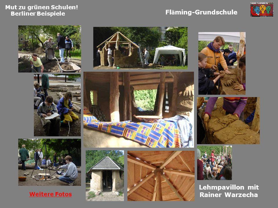 Fläming-Grundschule Lehmpavillon mit Rainer Warzecha