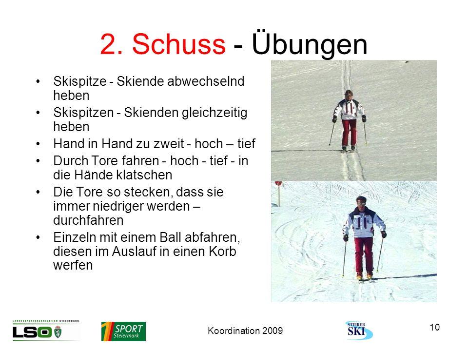 2. Schuss - Übungen Skispitze - Skiende abwechselnd heben