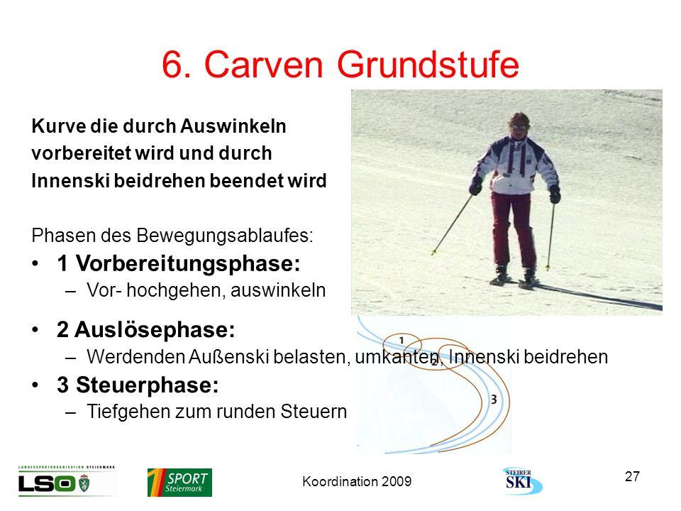 6. Carven Grundstufe 1 Vorbereitungsphase: 2 Auslösephase: