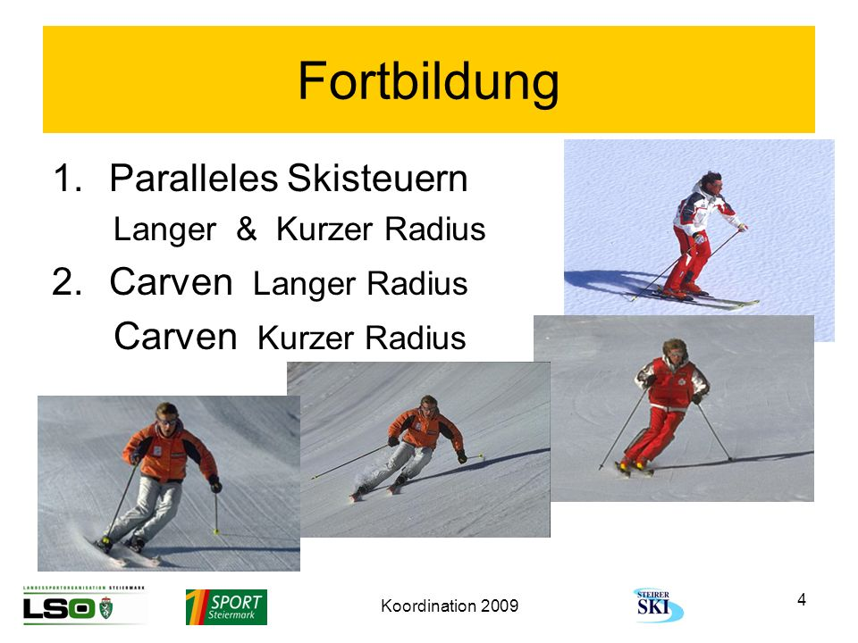 Fortbildung Paralleles Skisteuern Carven Langer Radius