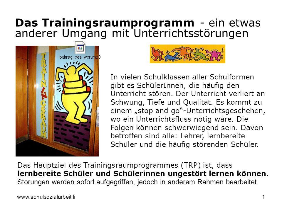 Das Trainingsraumprogramm - ein etwas anderer Umgang mit Unterrichtsstörungen