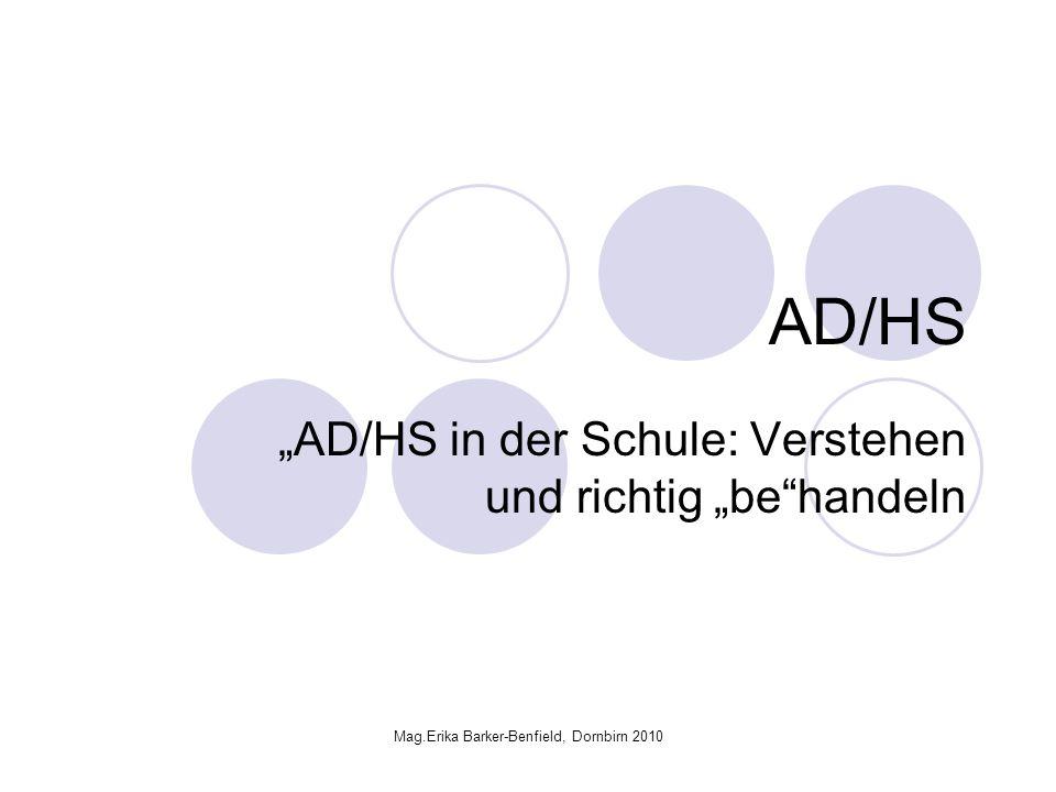 """""""AD/HS in der Schule: Verstehen und richtig """"be handeln"""
