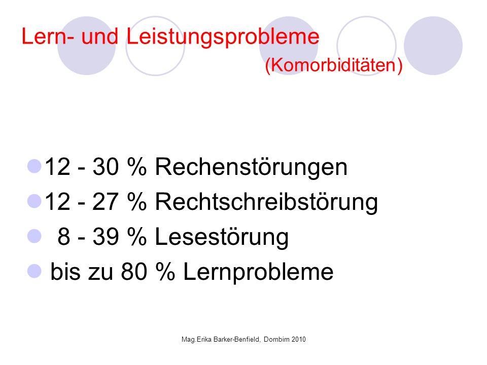 Lern- und Leistungsprobleme (Komorbiditäten)