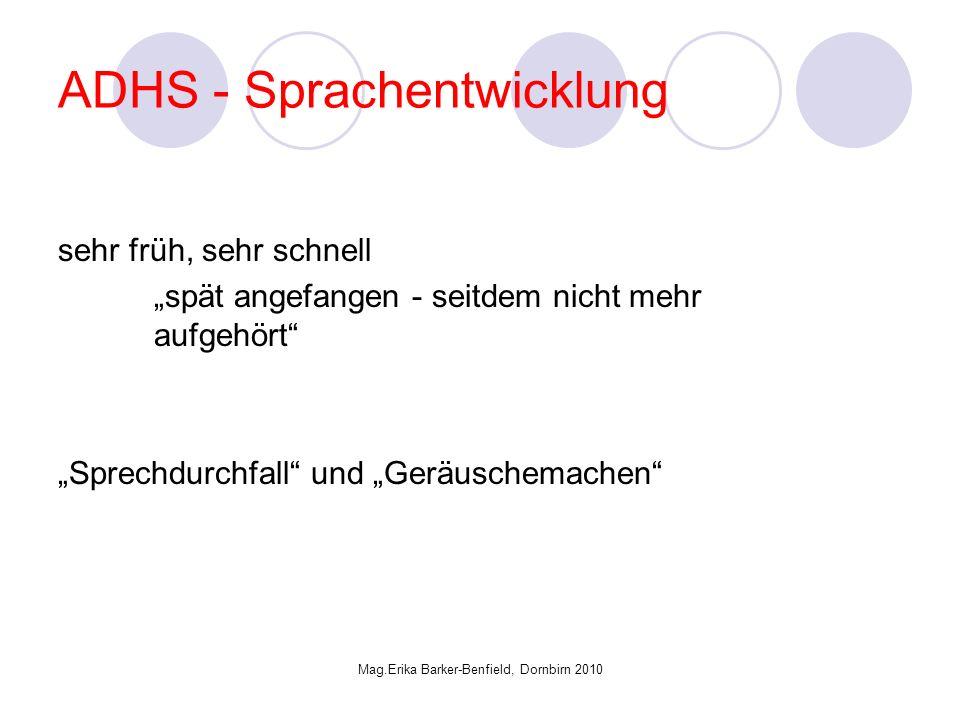 ADHS - Sprachentwicklung