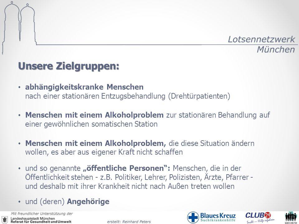 Unsere Zielgruppen: abhängigkeitskranke Menschen nach einer stationären Entzugsbehandlung (Drehtürpatienten)