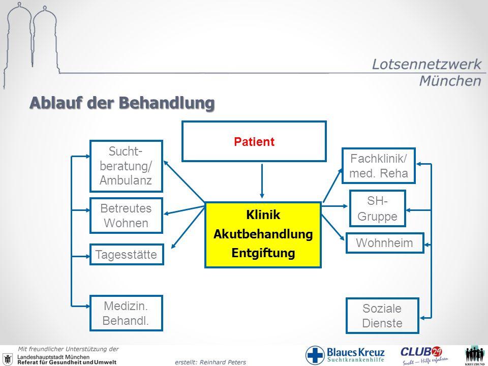 Ablauf der Behandlung Patient Tagesstätte Wohnheim