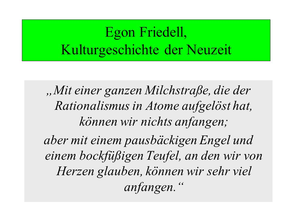 Egon Friedell, Kulturgeschichte der Neuzeit
