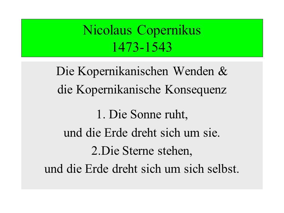 Nicolaus Copernikus 1473-1543 Die Kopernikanischen Wenden &