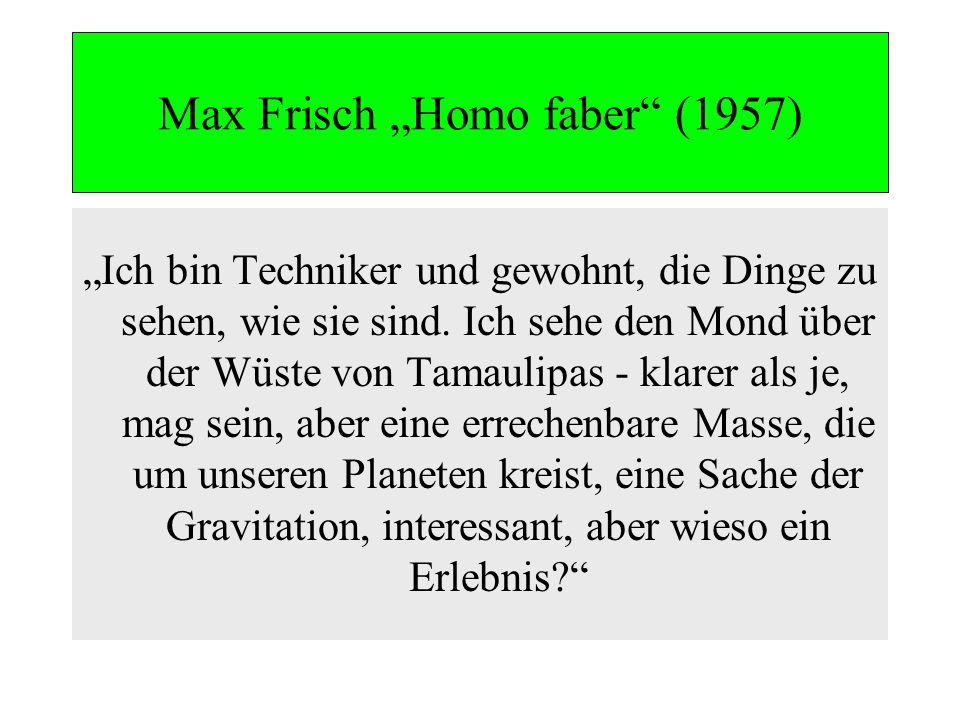 """Max Frisch """"Homo faber (1957)"""