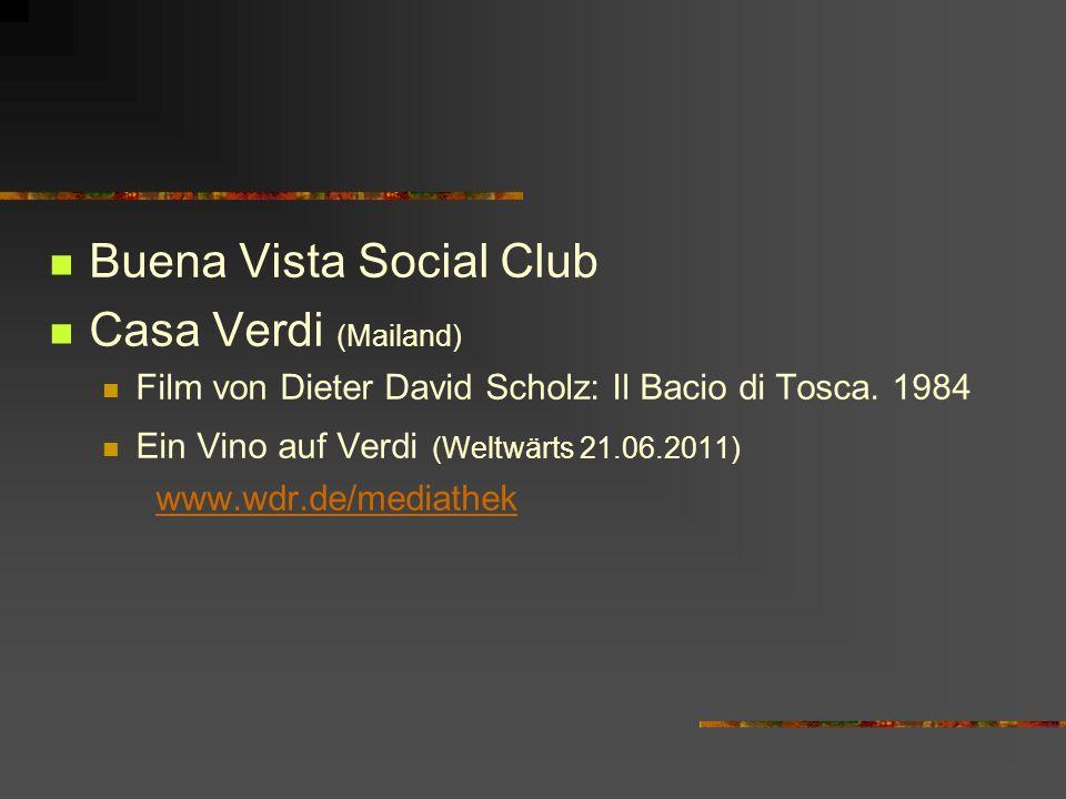 Buena Vista Social Club Casa Verdi (Mailand)