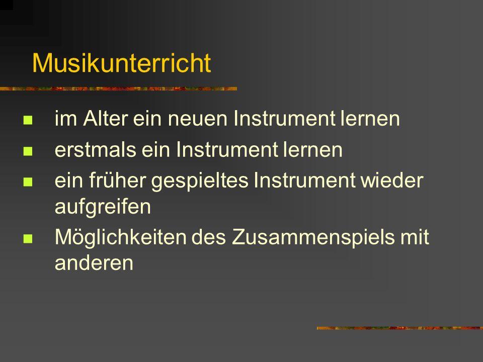 Musikunterricht im Alter ein neuen Instrument lernen