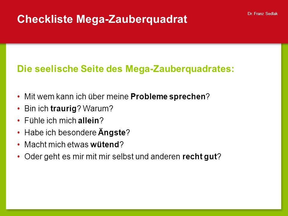 Checkliste Mega-Zauberquadrat