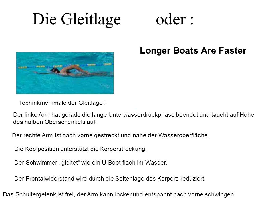 Die Gleitlage oder : Longer Boats Are Faster
