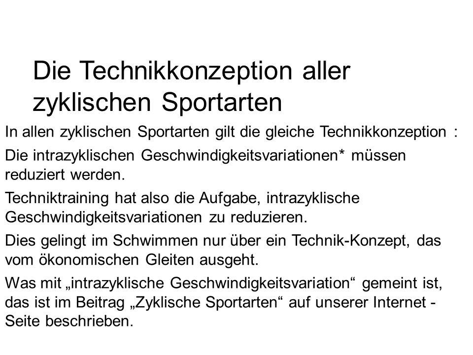 Die Technikkonzeption aller zyklischen Sportarten