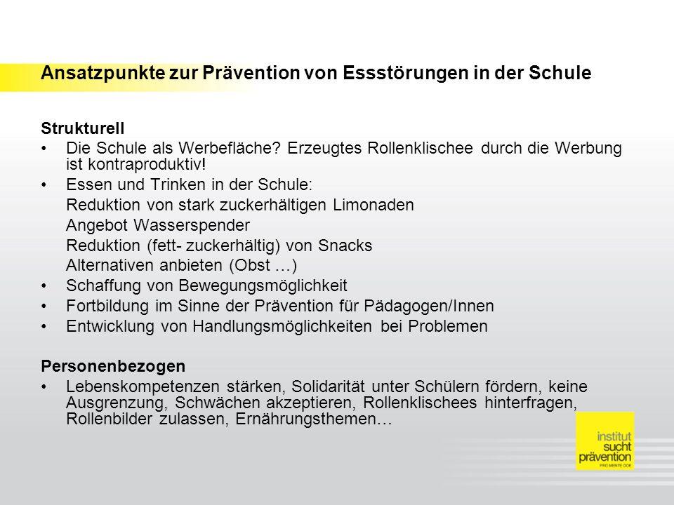 Ansatzpunkte zur Prävention von Essstörungen in der Schule