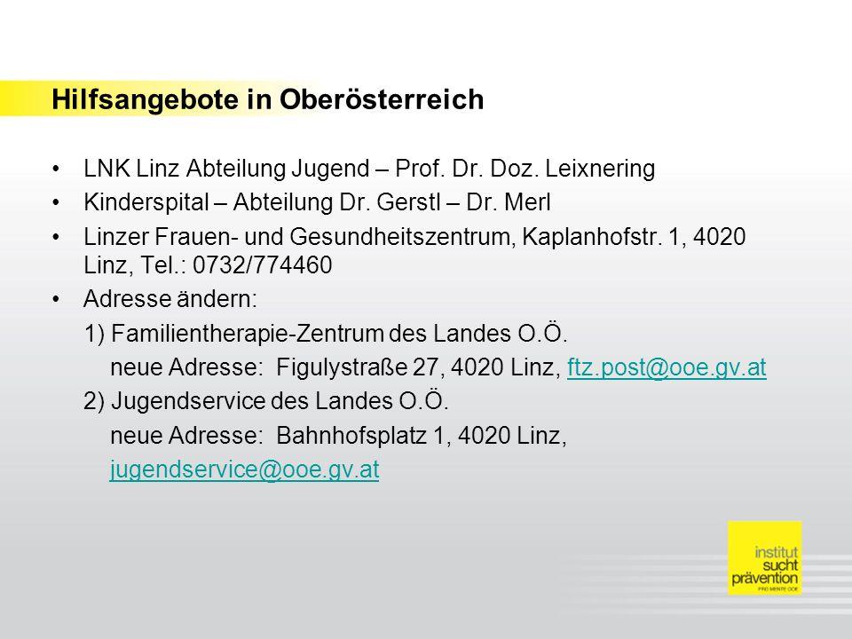 Hilfsangebote in Oberösterreich