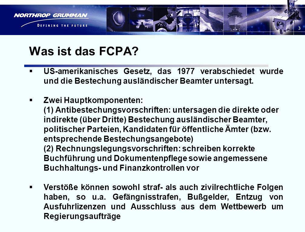 Was ist das FCPA US-amerikanisches Gesetz, das 1977 verabschiedet wurde und die Bestechung ausländischer Beamter untersagt.