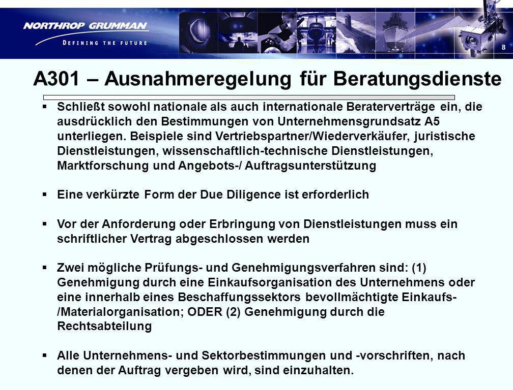 A301 – Ausnahmeregelung für Beratungsdienste