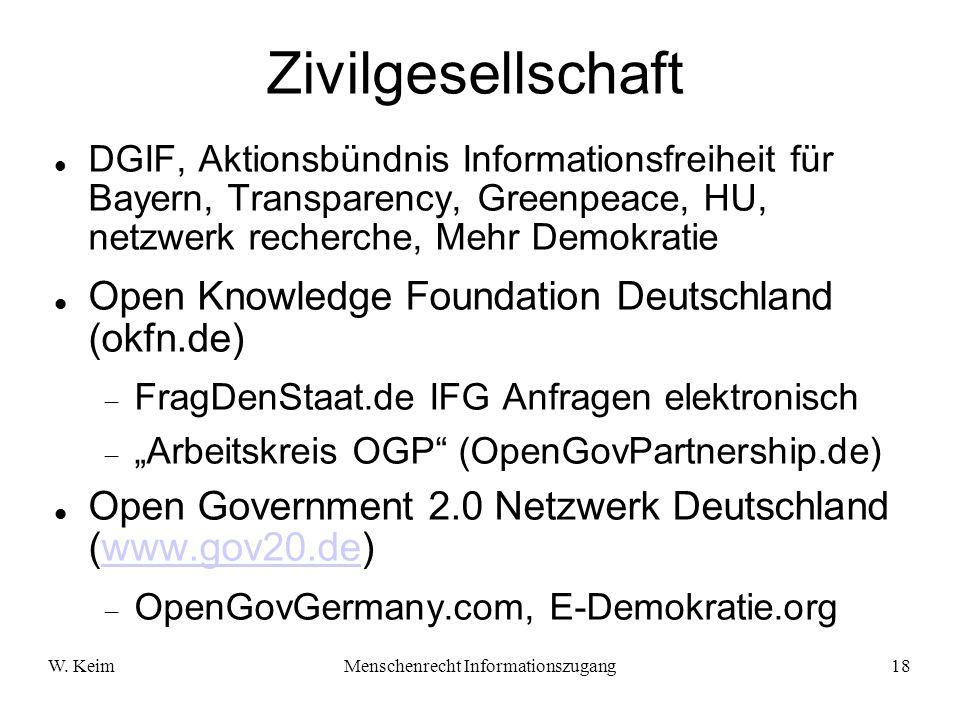 Menschenrecht Informationszugang