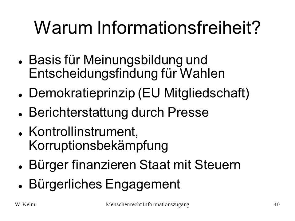 Warum Informationsfreiheit