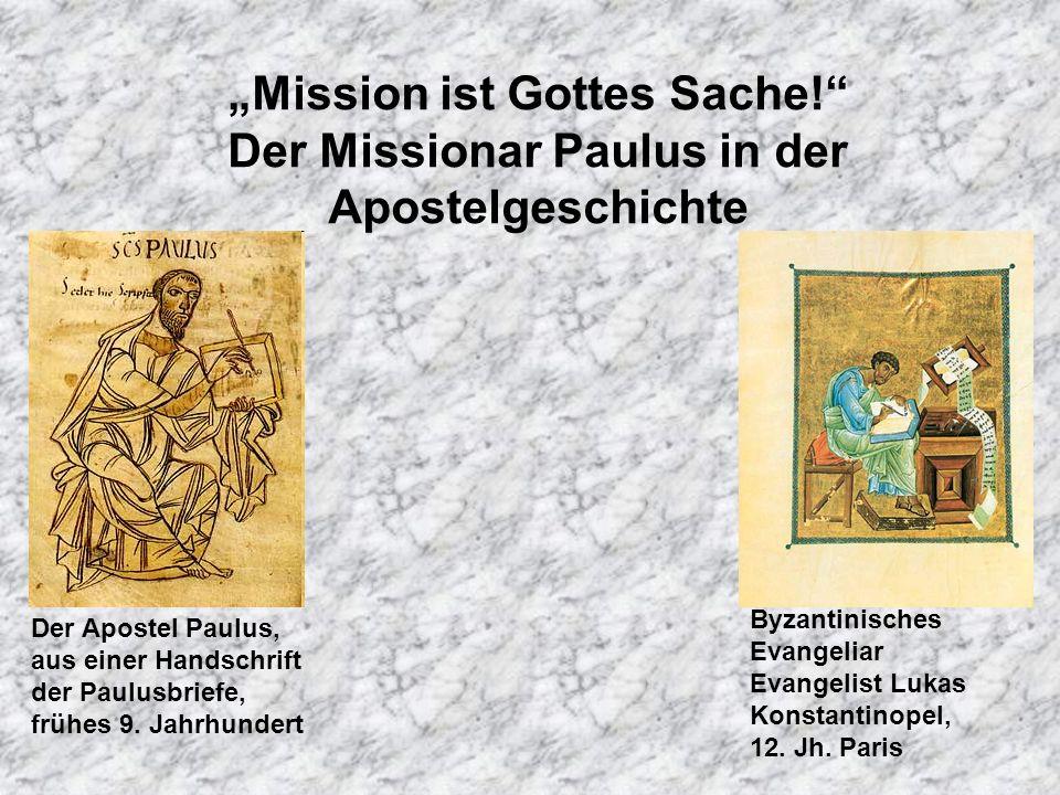 """Mission ist Gottes Sache"
