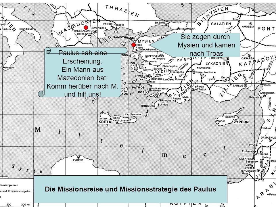Die Missionsreise und Missionsstrategie des Paulus