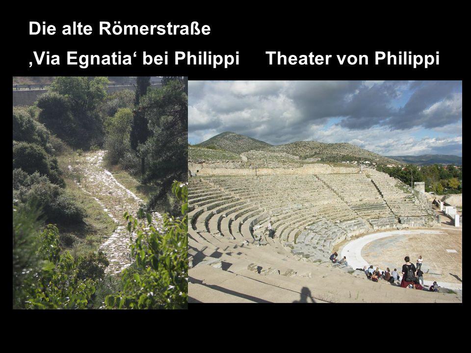 Die alte Römerstraße 'Via Egnatia' bei Philippi Theater von Philippi