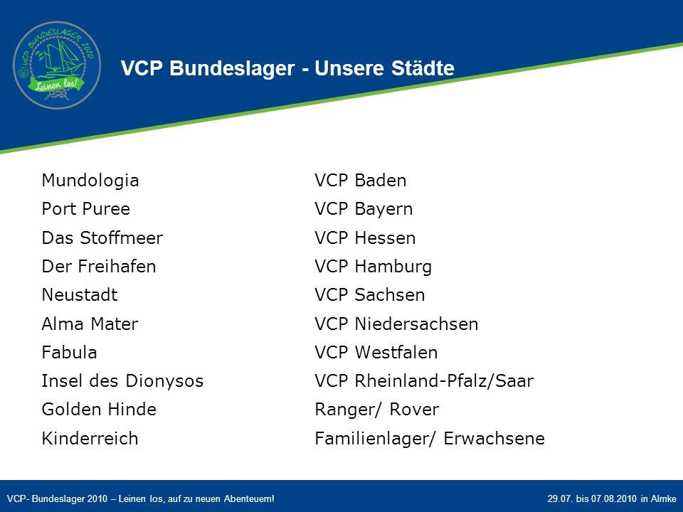 VCP Bundeslager - Unsere Städte